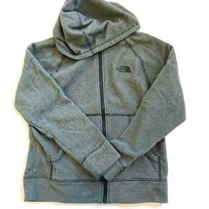 Boys Gray The North Face hoodie 10/12